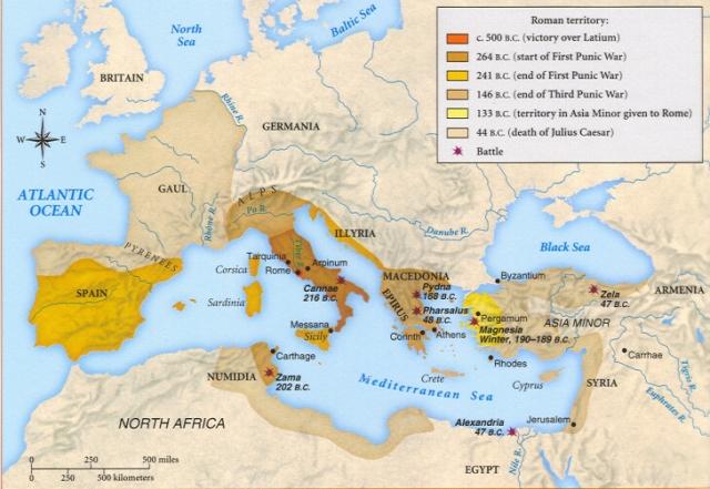 Roman Growth Timeline
