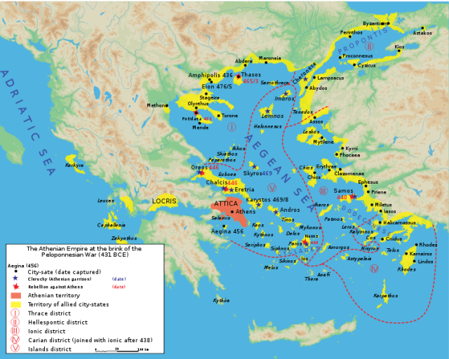 Map, Athenian Empire 431 B.C.