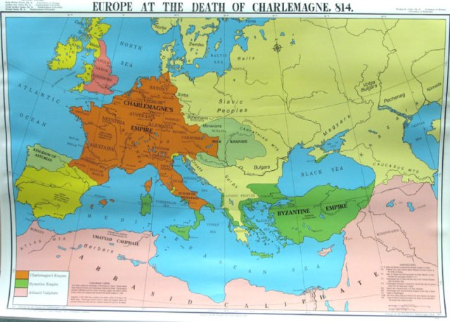 Map of Europe, AD 814