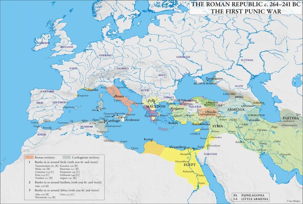 Mediterranean, 264 BC