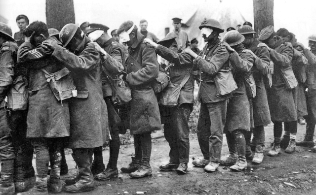 British 55th Division gas casualties 10 April 1918