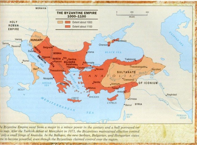 Byzantine Empire 1000-1100