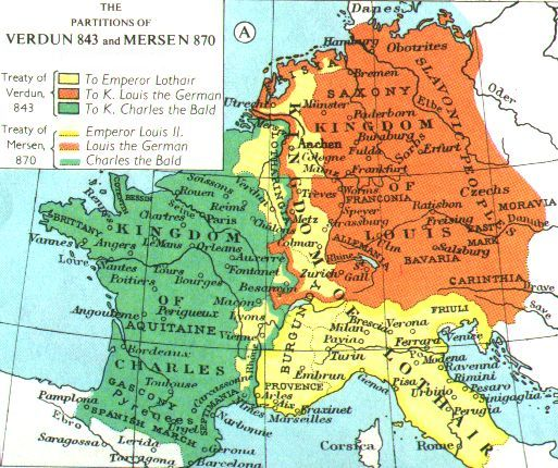 Division of Charlemagne's Kingdom